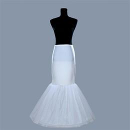 Nuevas enaguas de sirena para bodas Eventos Vestido de novia formal blanco Crinolina Accesorios nupciales 1 Hoop Bone Elastic Trompe Falda interior desde fabricantes