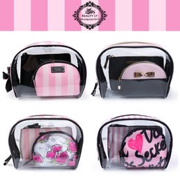 Wholesale Make Up Organizer Boxes - landy house fo victoria's Transparent Cosmetic Bags PVC Makeup Bags Travel Organizer Necessary Beauty Case Toiletry Bag Bath Wash Make up