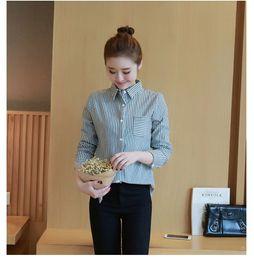 Wholesale Korean Women S Casual Wear - YIMOSI Autumn Winter Women Blouse 2017 Korean Long Sleeve Striped Shirts Office Tops Casual Work Wear Shirts Female
