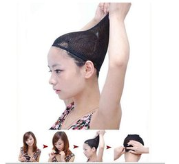 Wholesale Snood Net For Hair - Black Stretchable Elastic Hair Net Snood Mesh Wig Cap for Cosplay