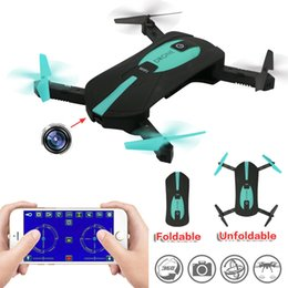 Wholesale Helicopter Remote Control Hd Camera - JY018 ELFIE WiFi FPV Quadcopter Mini Drone Foldable Selfie Drone RC Drones with Camera HD FPV Professional RC Helicopter Gift For Kids
