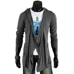Wholesale Cardigan Sweater Vest Men - 2017 Brand Fashion Mens Jackets Autumn Stylish Single Button Long Sleeve Hooded Coat Knitted Cardigan Male Sweater Plus Size