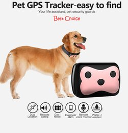 Wholesale Wholesale Pet Collars China - Mini Smart GPS Tracker For Pet dog Cat With Collar 4 Frequency GPRS GPS+LBS Dual Location With APP Waterproof dhl free