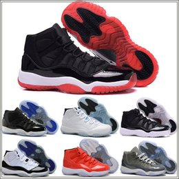 Wholesale Shoes Suede Fur Men - High Quality Retro 11 Space Jam Bred Gamma Blue Basketball Shoes Men Women 11s Concords 72-10 Legend Blue Cool Grey Sneakers With shoes Box