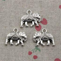 Wholesale Elephant Crafts - 35pcs Charms Jewelry Thailand mounts elephant 16*20mm pendant Zinc Alloy Ancient Sliver DIY Craft Necklace Bracelet Accessories