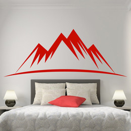 Wholesale Mountain Posters - Huge Mountain Silhouette Patterns for Your Bedroom Living Room Vinyl Stickers Window Posters Door Sweet Wall Decals