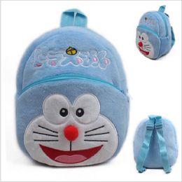 Wholesale Doraemon Birthday - Wholesale- 1Pcs 23cm Japanese Doraemon Plush Backpack Toys Cartoon Animal Blue Cat Schoolbag Baby Toys Birthday Gift For Children#ML0277
