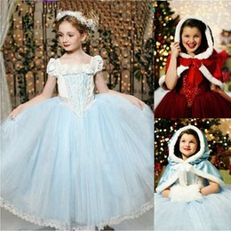 Wholesale Evening Dess - Hot Sale Girl's Dress Cosplay Kids Clothes Cloak+ Ball Gown Dess Children Girl's Set Cartoon Star Fairy Tales Girls Dresses Party Evening