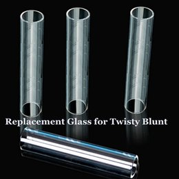 Wholesale Free Herbal Smoke - Replacement Glass for Twisty Blunt Dry Herb Vaporizer Pipe Grinder Filter System Accessories Herbal Twist me Smoking DHL free