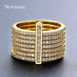 Wholesale Stacking Jewelry - NEWBARK New One Stacking Ring Set Including 7Pcs Round Rings Nondetachable Inlaid CZ Stone Classic Fashion Women Jewelry q170720