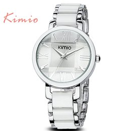 Wholesale Japan Movt Woman - Wholesale- JW761 Fashion Style Brand KIMIO Elegant Ladies Dress Watch Bracelet Watches Women Wristwatches with Japan Movt