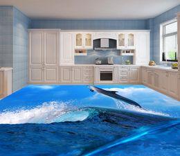 Wholesale Underwater World Print - Top Classic 3D European Style 3D underwater world bathroom floor wall mural for tv backdrop