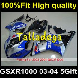 Wholesale Gsxr Suzuki Plastic Kits - Plastic Body Fairing Set Kit For SUZUKI GSXR1000 GSXR 1000 GSX R1000 2003 2004 03 04 S-109