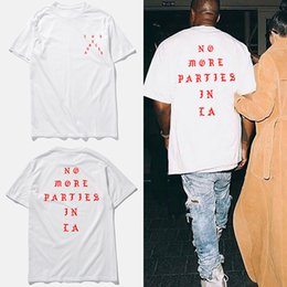 Wholesale Cotton Life - hip hop t shirt men kanye life of pablo white cotton tee tops short sleeve t shirt