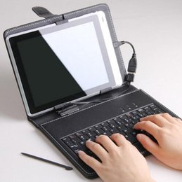 Wholesale Smart Pad Tablet - Tablet computer keyboard holster 7 8 9 10 inch general color keyboard cases Support keyboard cases