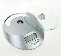 Wholesale Food Cuisine - Cooking Tool Electronic Weight Scale Food Balance Cuisine Precision Kitchen Scales 5kg 1g with glass face