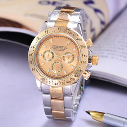 Wholesale Hand Models - New Male model Luxury Top Brand aaa watches Automatic Mechanical fashion design golden dial Full Function stainless steel charm Clock