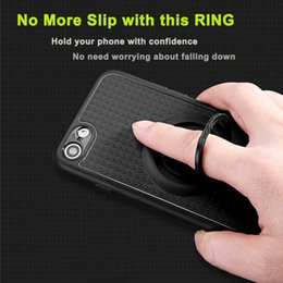 Wholesale Apply Ring - Applied Finger Ring Magnetic Car Holder Case for iPhone 6 7 plus Ring Stand Case Kickstand Silicone Rubber Cover capinhas coque