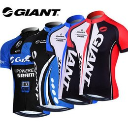 Wholesale Giant Mtb Bikes - VACOVE Summer Pro Team Giant Cycling jerseys Breathable Short sleeves Cycling Clothing MTB bike jerseys Ropa Ciclismo cycling shirt GT06WQ
