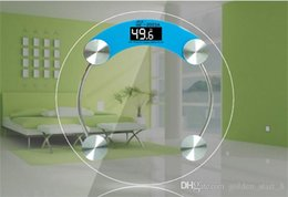 Wholesale Body Weight Balance - 180kg Toughened glass Precision Electronic Digital Scale Glass Electronic body Weight bathroom scales Balance weighing scale
