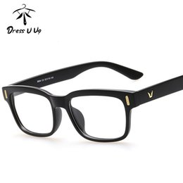 Toptan-DRESSUUP Kadın Erkek Için 2016 Vintage Gözlük Çerçeve Klasik Kare Optik Asetat Gözlük Çerçeve Gözlük ulculos De Grau Gafas nereden piksel çerçeve gözlükleri tedarikçiler