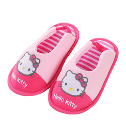 Wholesale Children S Footwear Wholesalers - Toddler Girls Slippers Cute Cartoon Sandals 2017 New Fashion Children 's Home Indoor Cotton Flats Soft Rubber Sole Kids Footwear in House