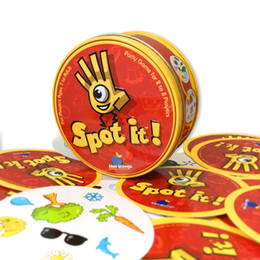 Wholesale Fun Box Games - Hottest selling party board game Spot it for Children Magic fun family gathering game with 55pcs cards and regular packaging box