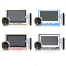 """Visualizzatore porta digitale senza fili online-Saful TS-506 Visualizzatore porta-spioncino digitale registrabile Multi-lingue HD 4,3 """"Spioncino TFT-LCD registrabile con un campanello senza fili"""