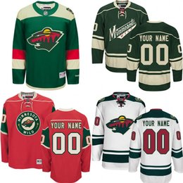 Wholesale Cheap Wild Hockey Jerseys - 2018 Custom MEN WOMEN Minnesota Wild Jerseys Authentic personalized Cheap Hockey Jerseys Any Number & Name Embroidery Logos size S-3XL
