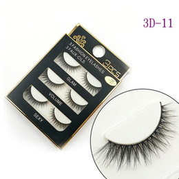 Wholesale Full Hair - NEW 3D Mink Hair False eyelashes 16 Styles Handmade Beauty Thick Long Soft Mink lashes Fake Eye Lashes Eyelash Sexy High Quality