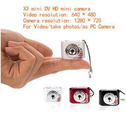 Wholesale Dvr X3 - X3 Micro Portable HD Mega Pixel Small Video Audio Digital Camera Mini Camcorder 480P DV DVR Driving Recorder Web Cam 720P JPG