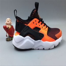 Wholesale Toed Sports Shoes - New Kids Air Huarache Sneakers Shoes For Boys Grils Authentic All White Children's Trainers Huaraches Sport Running Shoes Size 28-35
