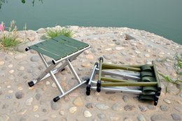 metal chair stool Promo Codes - Wholesale- Metal belt folding stool folding fishing chair outdoor fishing chair fish convenient