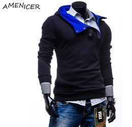 Wholesale Dark Grey Hoodie Men - Wholesale-Winter Men Hoodies And Sweatshirts Dark Grey Tracksuits Hip Hop Suit Sportswear Clothing Ropa Deportiva Hombre De Marca