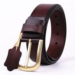 Wholesale Cow Pin - mens cow genuine leather man belt luxury strap male belts for men new fashion vintage pin buckle Designer belt