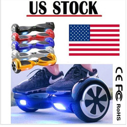 Wholesale Usa Wheels Self - 6.5 inch Two Wheels Balance Scooters Hoverboard Smart Electric LED Scooter Skateboard Mini Self Balancing Wheel USA Stock Drop Shipping