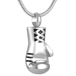 Wholesale Boxer Charms - IJD8308 Boxer Stainless Steel Cremation Pendant Necklace Memory Funeral Jewely Ashes Keepsake Urn Holder Necklace