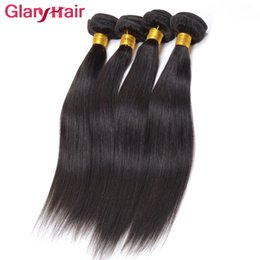 Wholesale Indian Virgin Remy Bangs - Unprocessed Glary Raw Indian Straight Hair Weave Bundles Wholesale Indtian Weave Weft Sraight Weave Bangs 1B 4pcs Free Shipping No Tangle