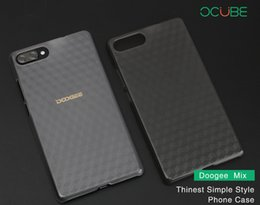 Wholesale Transparent Back Cover For Mobile - Ocube Luxury Doogee Mix Back Cover Case Transparent Protective Cover Case For 5.5 Inch Doogee Mix Smart Mobile Phone