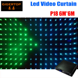 Wholesale Led Sd Card Controller - P18 6M*6M Fire Proof LED Video Curtain With On Off Line Controller For DJ Wedding Backdrops 90V-240V Tricolor Light Curtain PC SD Card mode