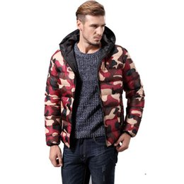 Wholesale Camouflage Jacket Hood - Winter hiking camping camouflage jackets for men tide warm men sport hood jackets new fashion long sleeve jackets men free shipping