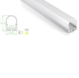Wholesale Aluminium Circles - 10 X 1M sets lot round shape led aluminium profile and Deep Circle diffused channel profile for ceiling or Recessed wall lamps