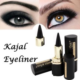 Wholesale Makeup Eyeliner Sticker - Wholesale- Free Shipping Makeup Waterproof Black Eyeliner Gel Professional Natural MISS ROSE Make Up Eyes Tattoo Eyeliner Stickers