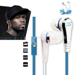 Wholesale Wholesale Chinese Buttons - In-Ear SMS Headphones For Audio 50 Cent headphones Mini 50 Cent With Mic Mute Button Sport Running Studio Music Heaphone With Retail Box