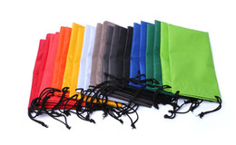 Wholesale Mixed Colorful Bag - (50 pcs lot)Colorful Sunglasses bags cloth eyeglasses pouches, phone bags mixed colors order