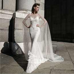 Wholesale Bridal Gown Lace Shawl - Free shipping Fashionable Ivroy sparking Mesh Princess Wedding dresses 2017 Sexy Luxury Spaghetti Straps Bridal Gowns with Shawl