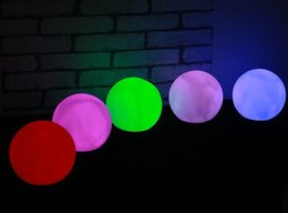 Wholesale Baby Moods - 7Colors Changing Ball LED Light Mood Lamp Night Light for Baby Kid Children Gift Home Party Wedding Romantic Decor