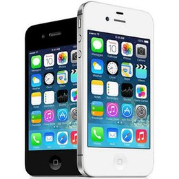 Wholesale Original Apple Iphone 3g - Refurbished Original Apple iPhone 4S Unlocked Mobile Phone IOS 8 8 16 32 64GB 3.5 inch IPS Dual Core WIFI 3G WCDMA Smart Phone Free DHL 5pcs
