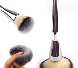 Kabuki em pó on-line-Frete grátis! Menor preço! Maquiagem Cosméticos Escovas Kabuki Contour Face Blush Escova Em Pó Foundation Tool