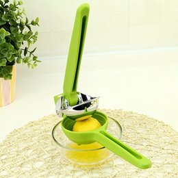 Wholesale Fruit Vegetable Juicer Squeezer Manual Juice Extractor Plastic Stainless Steel Citrus Press Lemon Reamer Orange Kitchen Tools OOA1835